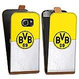 DeinDesign Samsung Galaxy S6 Tasche braun Hülle Flip Case karamell Borussia Dortmund Fanartikel BVB