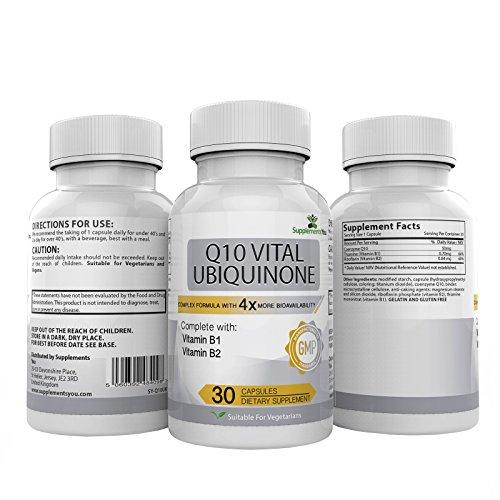 Q10 VITAL UBIQUINONE 200 30 CoQ10 klinisch geprüft sind diese Kapseln 4 Mal stärker als herkömmliches Q10. Hilft beim Kampf gegen den ALTERUNGSPROZESS & KREISLAUF ERKRANKUNGEN