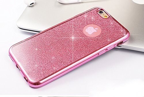 iPhone 6S Plus Silicone Coque,iPhone 6S Plus (Not Pour iPhone 6S/6 4.7 Pouce)Bling Diamant Coque en Silicone Coque Clair,EMAXELERS iPhone 6 Plus / 6S Plus Silicone Case Silver Slim Soft Gel Cover with D TPU 1
