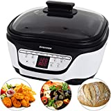 Syntrox Germany Programmierbarer Multicooker Multikocher 8in1 mit Digital Panel MC-1500W Variety