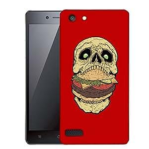 Snoogg Skull Having Burger Designer Protective Back Case Cover For OPPO NEO 7