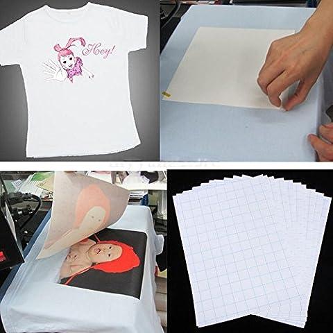 Pinzhi Sac de transfert de chaleur Fer à repasser sur papier transfert Papier jet d'encre Imprimante laser Impression sur