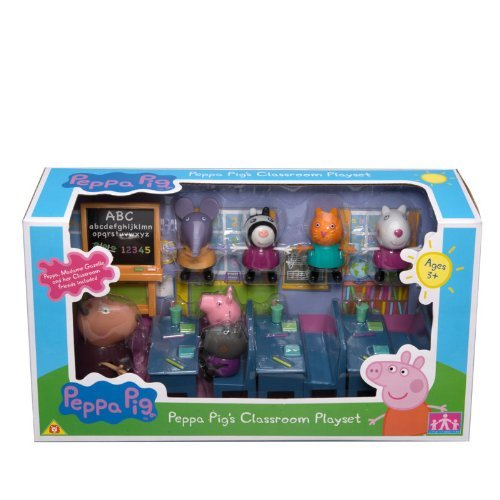 Official-Peppa-Pig-Classroom-Playset-Madam-Gazelle-Peppa-Pig-figures-including-Peppa-Pig-Friends