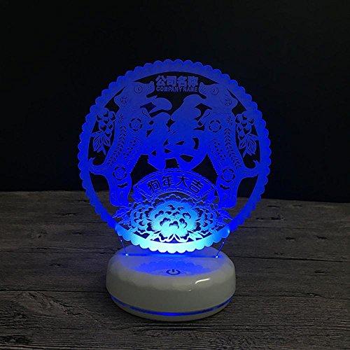 Wmshpeds Perro mascota USB luz de la noche 3D colorido extraño nuevo logo regalos de empresa personalizados para enviar a los empleados de los clientes
