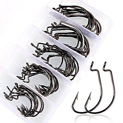VIPMOON Octopus Fishing Hook - Set of 500pcs/Box/10 Sizes from VIPMOON