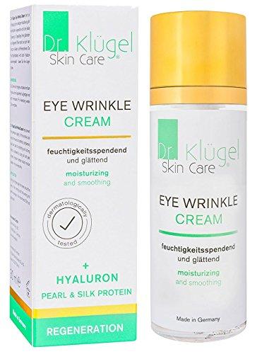 Augencreme gegen Falten und Augenringe - Anti-Aging Augenfaltencreme gegen müde Augen - mit Jojobaöl, Hyaluron, Vitamine A+C+E - Dr. Klügel Eye Wrinkle Cream 30ml