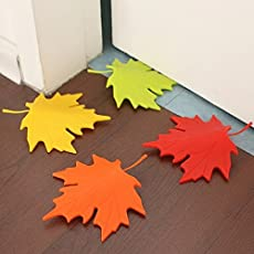 RIANZ Imported Cute Maple Leaf Shaped Door Stopper/Safe Doorstop/Door Stop Protector/Home Decoration, Color May Vary 1 Pc