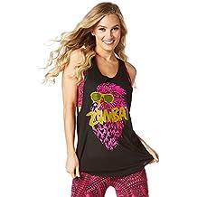 Zumba Fitness Rock N Rave Loose Reservorio Mujer Tops, todo el año, mujer, color Bold Black, tamaño small