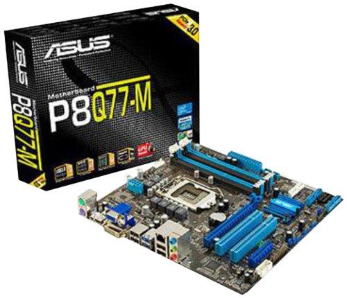 ASUS P8Q77-M Mainboard Sockel 1155 (Intel Q77, DDR3 Speicher, PCI-e, ATX)