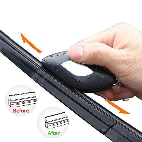 Auto Scheibenwischer Wischblätter Reparieren Werkzeug, Wiederverwendbar Universal Scheibenwischer Nachschneider (Schwarz) (Scheibenwischer Auto)