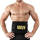 #8: Skycandle Sweat Waist Trimmer Fat Burner Belly Tummy Yoga Wrap Black Exercise Body Slim look Belt Free Size SWEAT BELT