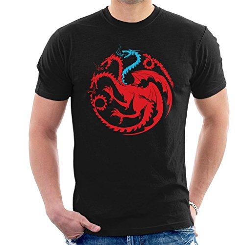Mens White Dragon Shirt (Game Of Thrones White Walker Dragon Men's T-Shirt)