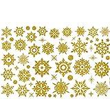 ODJOY-FAN Entfernbar Fenster Aufkleber Weihnachten Wandtattoos Schneeflocke Wandaufkleber Schnee Glas Wandbilder Restaurant Einkaufszentrum Dekor (30 x 45 cm)(Gelb,1 PC)