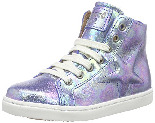 Bisgaard Shoe with laces, Baskets hautes mixte enfant Violett (27 Cyan)