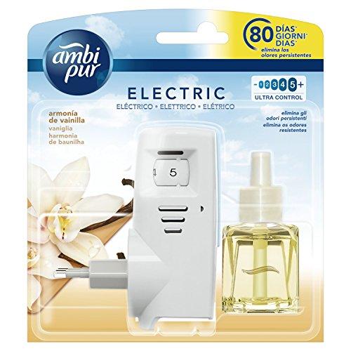 Ambi Pur Vaniglia Deodorante per Ambienti con Diffusore Elettrico, Starter Kit, 21.5m