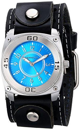 Nemesis 012STH-L - Reloj de pulsera hombre, piel, color Negro