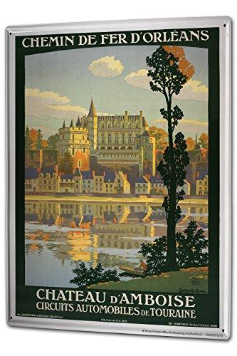 Cartello Targa in Metallo XXL Avventuriero Francia Amboise Castello - Castello Di Amboise