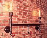 BOOTU LED Wandleuchte nach oben und unten Wandleuchten Loft Dorf retro Industrielle feng shui Wandleuchten, schmiedeeisernen Regalwand Racks,古Farbe