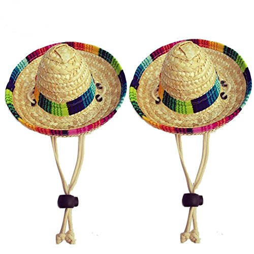 GZQ Hund Sombrero Hat Funny Hunde Kostüm Hunde und Katzen Sun Hat Party Supplies Dekorationen