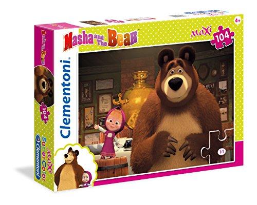 Clementoni- Masha e Orso Supercolor Puzzle Maxi, 104 Pezzi, 23710