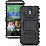 Dream2cool Rugged Hard Back Cover Kickstand Armor Case For HTC Desire 620 620G (Black)