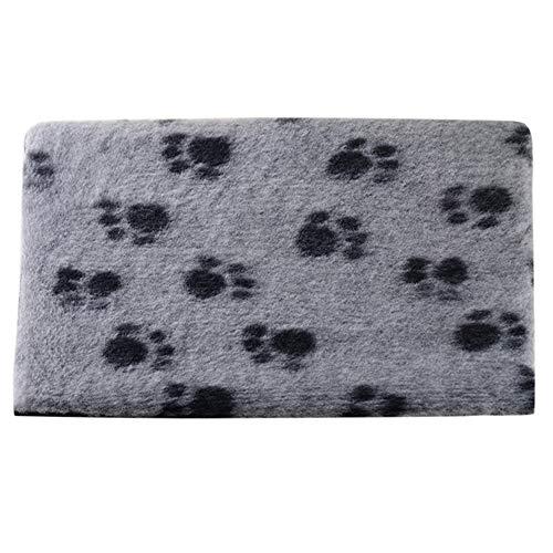 Yuhuistart-decorazione domestica, tappeto per animali stuoia per cani cat blanket gabbia per cani antiscivolo più velluto coperta coperta impronta tappeto s