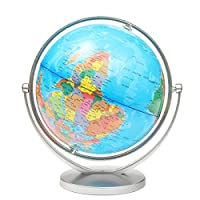 Tutoy World Globe Earth Ocean Atlas Map With Rotating Stand Geography Educational