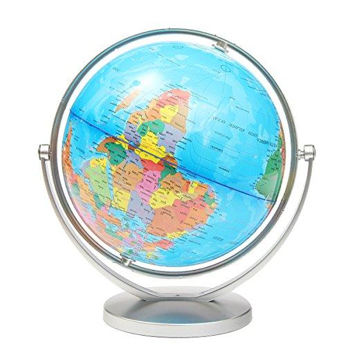 LaDicha World Globe Erde Ozean Atlas Karte Mit Rotierenden Stand Geographie Pädagogische -