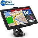 Yojetsing GPS Navi Navigation für Auto LKW PKW 16GB Lebenslang Kostenloses Kartenupdate Navigationsgerät mit POI Blitzerwarnung Sprachführung Fahrspurassistent 2019 Europa UK 52 Karten (7 Zoll 16GB)