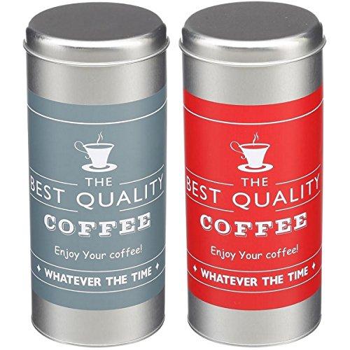 Promobo 2Vorratsdosen Hat Kapseln Messskala Senseo Kaffee Design Best Coffee Sylver Farbe