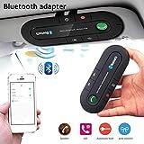 NUEVO Kit Bluetooth Manos Libres para Coche,Kit de coche Bluetooth manos libres para visera con manos libres inalámbrico Altavoz para automóvil Compatible con iPhone, Samsung y teléfonos inteligentes