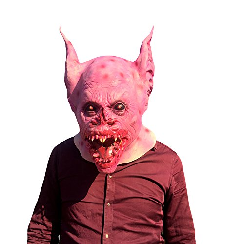 t Maske - perfekt für Fasching, Karneval & Halloween - Kostüm für Erwachsene - Latex, Unisex Einheitsgröße ()