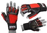 BOOM Prime Kuh Fell Leder Gym Handschuhe Gewichtheben Fitness Training Bodybuilding Radfahren Rollstuhl Workout Handschuhe Mittel