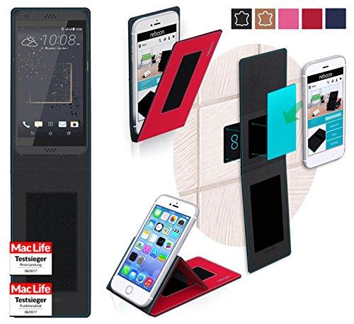 reboon Hülle für HTC Desire 630 Tasche Cover Case Bumper | Rot | Testsieger