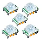 oiyagai 5x HC-SR501Menschlichen Körper Pyroelektrizität Infrarot-PIR Bewegungsmelder Sensor-Modul 5pcs HC-SR501