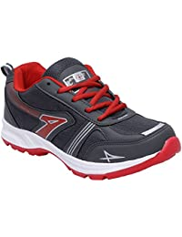 CF_Better Deals Mens Synthetic Mesh Grey Red Coloured Sports Shoe| Running Shoes| Pro Running Shoes| Sprint Running... - B076CLLWWR