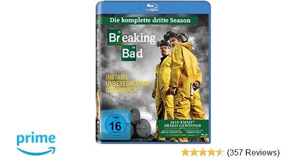 Breaking Bad Season 3 Blu Ray Amazonde Bryan Cranston Anna