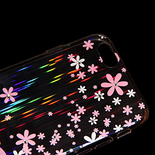 Ukayfe iphone 5 Copertura, Serie di Natale Custodia Ultra Slim Morbido TPU Gel Silicone Protettivo Skin Protettiva Shell Case Cover per Apple iPhone 5/5S Con Stilo Penna - Bianco neve Rosa Bianco Amore#2