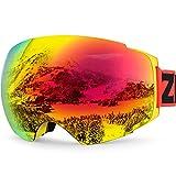 Gafas de esquí, ZIONOR Lagopus X4 Skate Gafas de Protección 100% Protección UV400 Anti Niebla Rápido Lens-changing PC Lente Marco durable de TPU para el Adulto y Adolescente