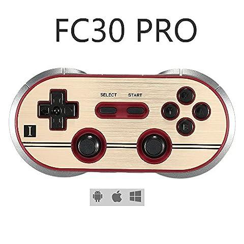 Yikeshu FC30 Pro Double Joystick classique pour iOS/Android Manette Bluetooth sans fil - PC MAC (108 Chiave Usb)