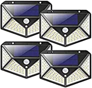Solar Light Outdoor Solar Powered Motion Sensor Lights 100 LEDs Waterproof Outdoor Wall Night With 3 Modes &am