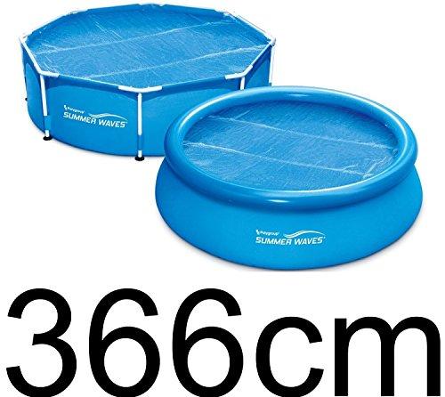Summer Waves Film Solaire Ø 3,66m Chauffage Solaire Pour Piscine Grasekamp Bâche de piscine solaire Cover