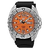 Seiko 5'Baby Monster' 100m orologio automatico quadrante arancione cinturino in gomma SRPB39K1