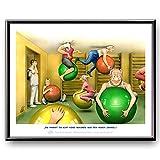 Veit`S Bilder Wandbild Cartoon Beruf Physiotherapie Pezzi-Bälle - Die Kannste echt Keine Sekunde aus den Augen Lassen! (Klein 24x30ohne Rahmen)