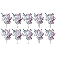 B Blesiya 10x Inflatable Stick Animal Balloons Aluminum Foil Balloons for Birthday Party Decoration