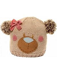 Bonnet tricoté à motif ours - Fille