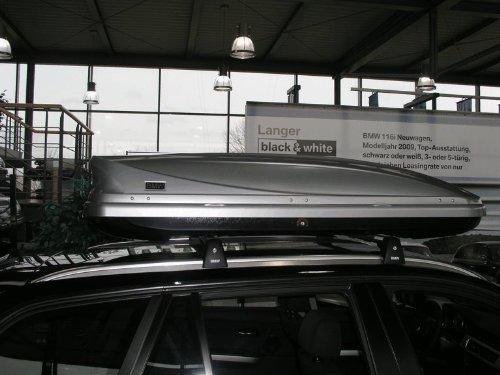 Original BMW Dachbox Skibox 320 Liter klein silber NEUES MODELL