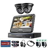 Die besten SANNCE Überwachungskameras - ANNKE Videoüberwachung Überwachungskamera 10,1 Zoll Display 8CH 720P Bewertungen