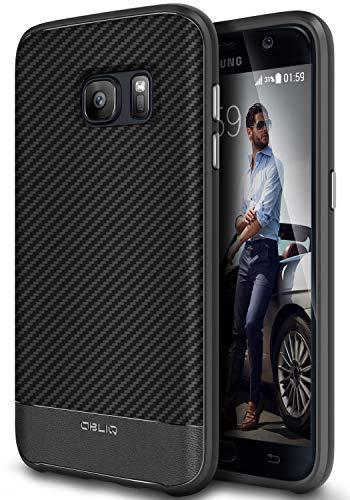 Obliq Galaxy S7Fall, [Flex Pro] [Carbon] Premium PU Leder Slim Fit TPU Bumper Form Fassung Robuste Schutzhülle für Galaxy S7(2016)