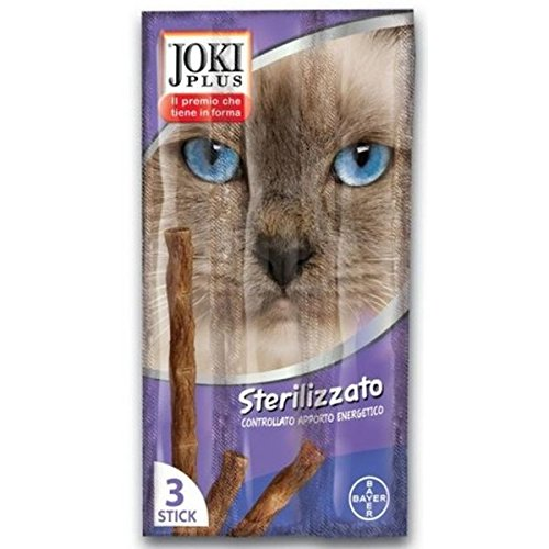 Bayer Gatto, Snack Joki Plus 3 Sticks, Sterilizzato